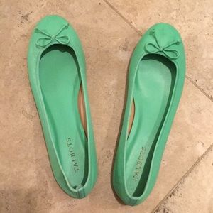 Never-worn Mint Green Talbots Flats